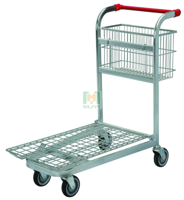 MJYI-M series supermarket shopping logistic cart warehouse trolley