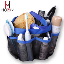 Cute Black Travel Toiletry Mesh Shower Caddy Tidy Tote Bag