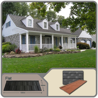 Shingle flat plain series Waterproof Products Natural Stone Coated Metal Roof Tile