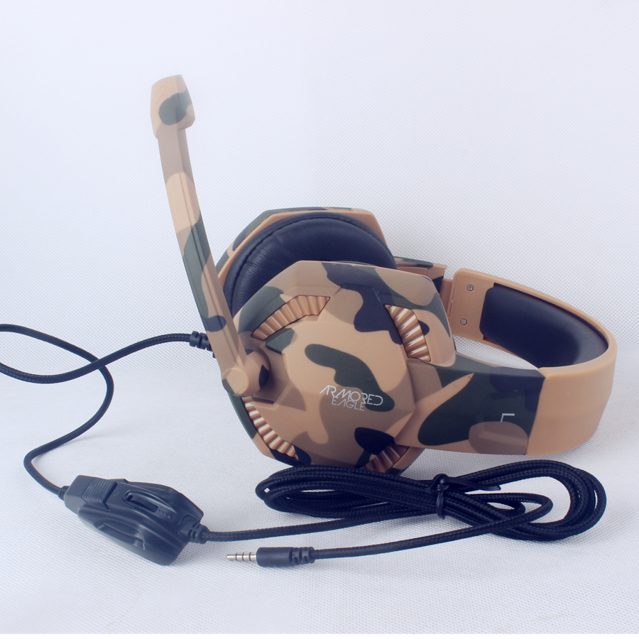 Shenzhen Headphones Manufacturer Factory Price Best Stereo PC Gaming Headset Camo with Microphone