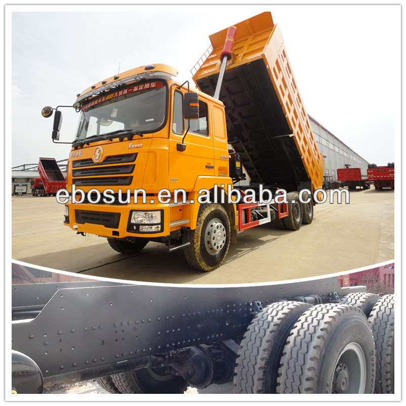 Military quality Shacman 6x4 dump truk for sale