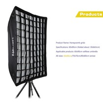Honeycomb 60*90 Grid Umbrella Frame Photo Studio Rectangle flashing train light Softbox For All Strobe Flash Lighting PS117