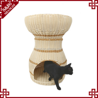 Wholesale portable rattan cat luxury house warm indoor and outdoor pet nest for dogs