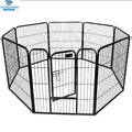 8 panel black heavy duty pet playpen dog exercise pen cat fence metal cage