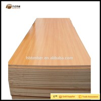18mm thick high gloss waterproof white oak veneered texture mdf wood board for furniture making in cheap price