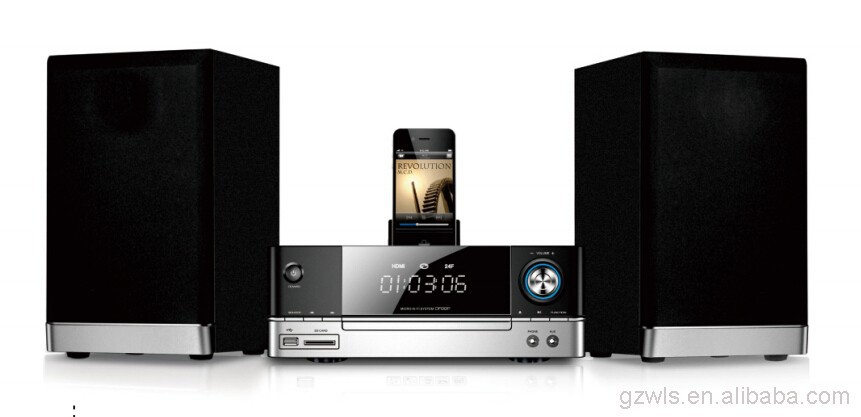Wood Sound Box J-2007 Mini HIFI COMBO DVD power system solution With FM Radio MP3 Music and bluetooth Audio