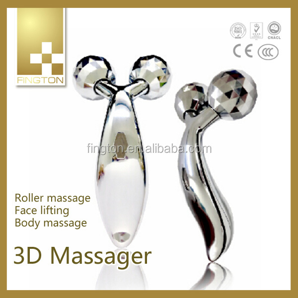 New Modle Mini Y Shape Vibrating Body Roller Massager Lady face Shaping Beauty Beads Massager