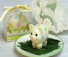 mini pig animal shape candle for gift set