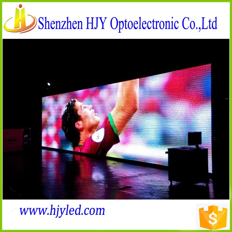 china high quality tv wall P6 SMD indoor full color led sign blue film video