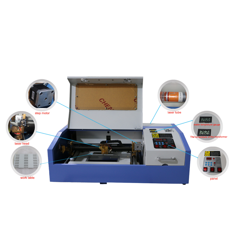 cheap mini desktop portable laser engraver k40 40w co2 laser doa tag engraving machine 320