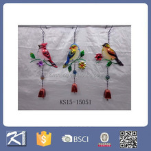 Hummingbird decorative metal and Glass Wind Bells