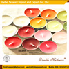 wholesale colourful scented spa tea light decorative candles