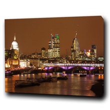 LED Art Canvas Print Frame Painting Modern Night Wall Decor Hanging Painting With LED Light