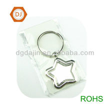 Star shape key tag with metal ring
