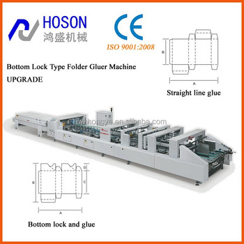 ZH-1400BFT-H High Speed Bottom Lock Automatic Folder Gluer Machine