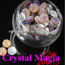 beautiful round shape flat back resin stones , sew on resin stones