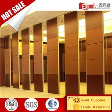 Decorative easy operation sliding folding door partition for banquet hall