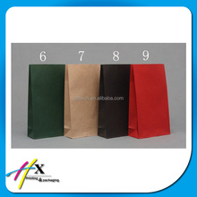 different color grocery packing kraft paper bags with no handles