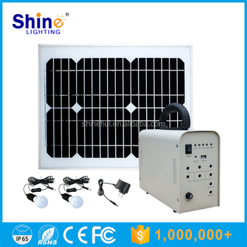 30W Factory Price Mobile Charger Lighting Solar System for Home