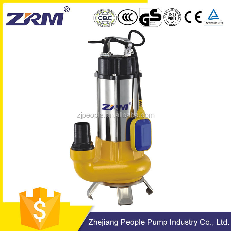 1.5hp high flow centrifugal submersible sewage pump