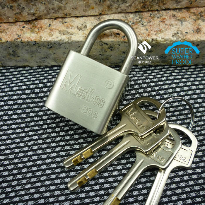 Heavy Stainless Steel Padlock With Padlock Heart in Construction & Real Estate