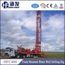 Best after sale service!HFC-400 truck mounted rotary type water well drill equipment