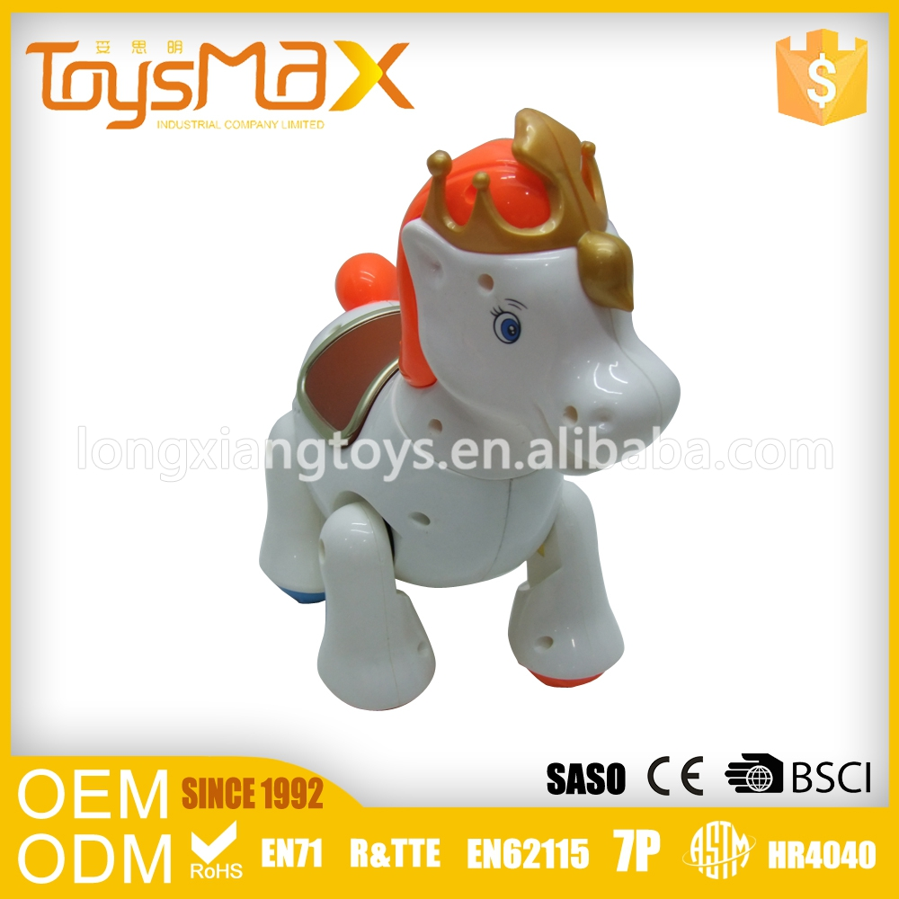 China Manufacturer Lovely Color Plastic Racing Horse Toy