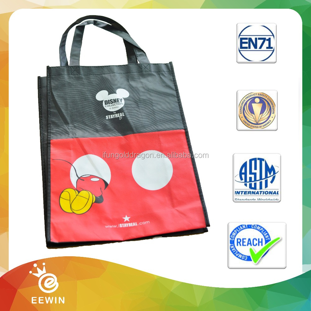 All Color Promational Lovely Reusable Non woven Shopping bag