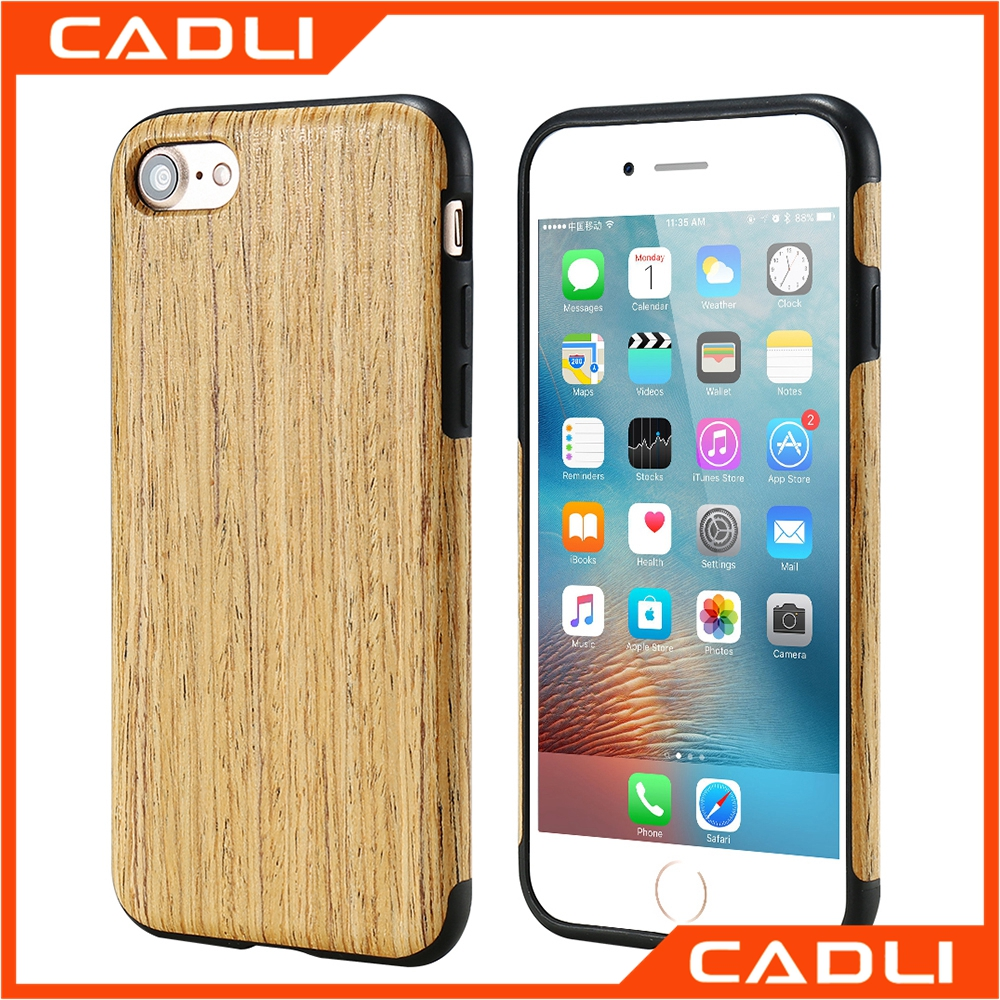 Top sale Real Wood grain + TPU phone case for Apple iPhone 6