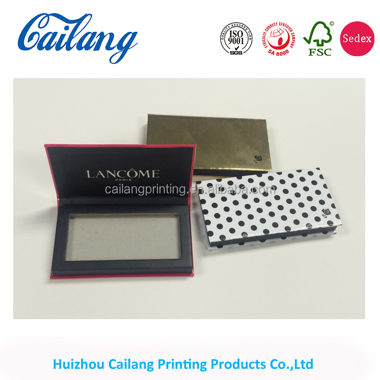 high quality beauty and perfect makeup eyeshadow palette packaging box