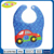 super quality plastic customized design PEVA waterproof baby bibs