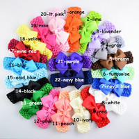 Retail 20pcs A lot Cheap Toddler Girls Headband Infant Bow Headwear Baby Newborn Hairband Kids Jewelry Hair Accessories!!