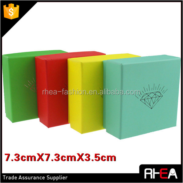 Candy color OEM & ODM customized newest fashion paper jewelry gift packing box,factory directly sale,accept custom logo