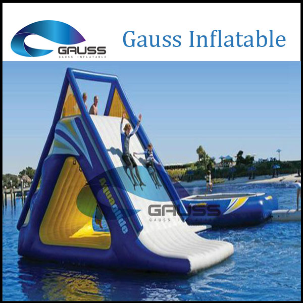 Floating sea giant water park inflatable slide for sale
