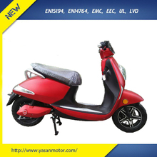 Red Color 800W Pedal Mopeds 60V 20Ah Electric Scooter Street Legal