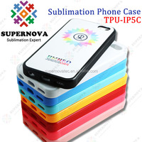 Sublimation Soft Silicone Case for iPhone 5C