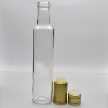 square round clear dark green olive oil glass bottles 100ml 250ml 500ml 750ml with aluminum cap plastic cap