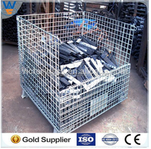 Warehouse Steel Wire Box Container Storage Cage manufacturer