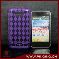 [MS770 case]2013 newest transparent soft diamond TPU phone case for LG MS770/Motion 4G