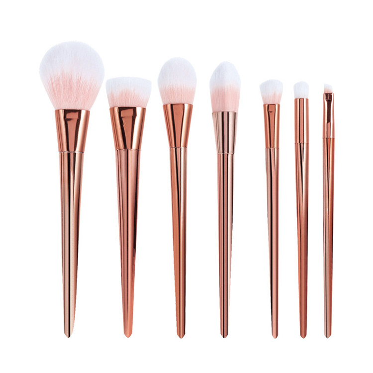 factory hight quality best price 7pcs rose gold unicorn makeup brushes