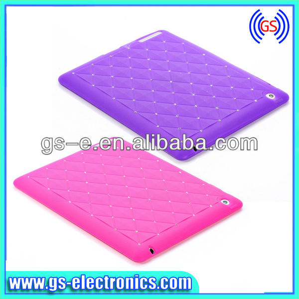 Fashion Babysbreath Silicone soft Case for iPad Mini