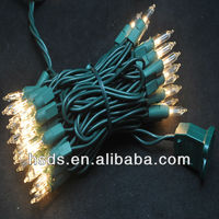 LED holiday string light 50 Light/ Mini Incandecent Bulb/Non-Lamp-lock/12'10""
