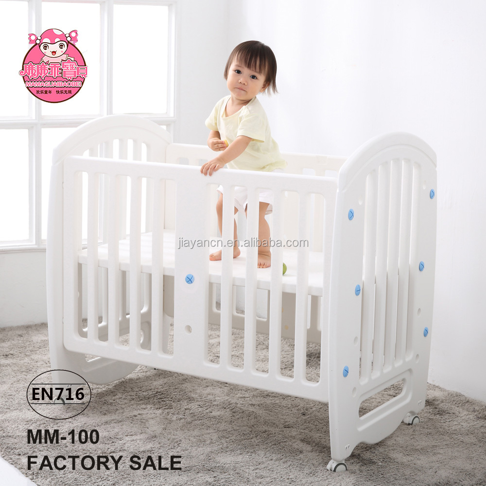 Multifunction European Standards Plastic adult baby crib