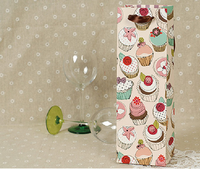 Colorful printing cardboard paper wine bags