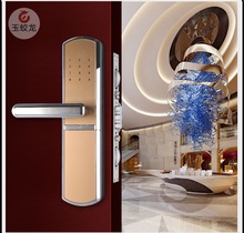sliding fingerprint mortise combination lock