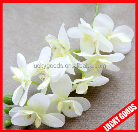 2014 new arrival mini design artificial orchid stem wholesale