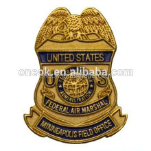 Car badge custom soft enamel gold plated badge