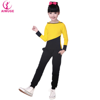 2016 New Style Kids Outdoor Sports Clothes Girls Jogging Suits Children Sportswear Set