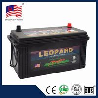 JIS series Maintenance Free n100 12v 100ah auto car battery