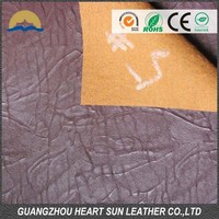 China synthetic pu leather supplier pu leather for garment